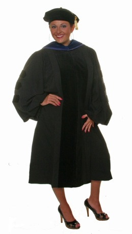doctoral robe academic attire
